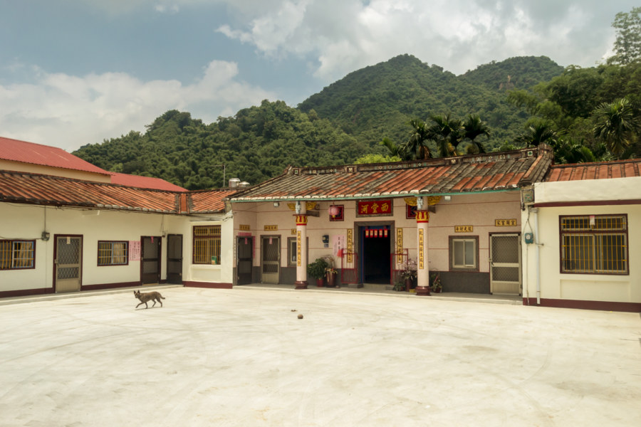 An old style sanheyuan on the outskirts of Meinong