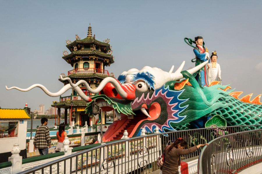 The dragon at Spring Pavilion 春秋閣