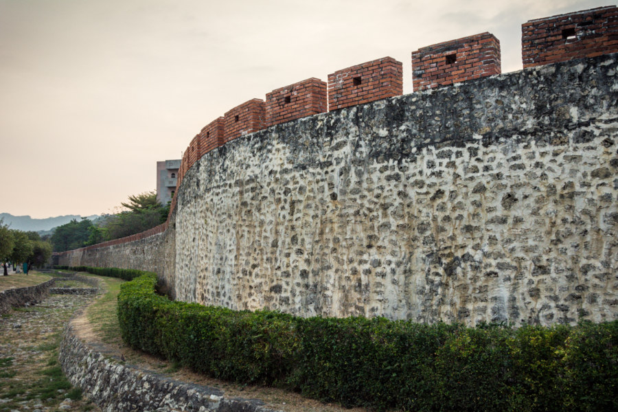 The moat and the walls of Zuoying