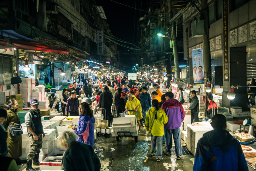 Keelung's longest-running fish market