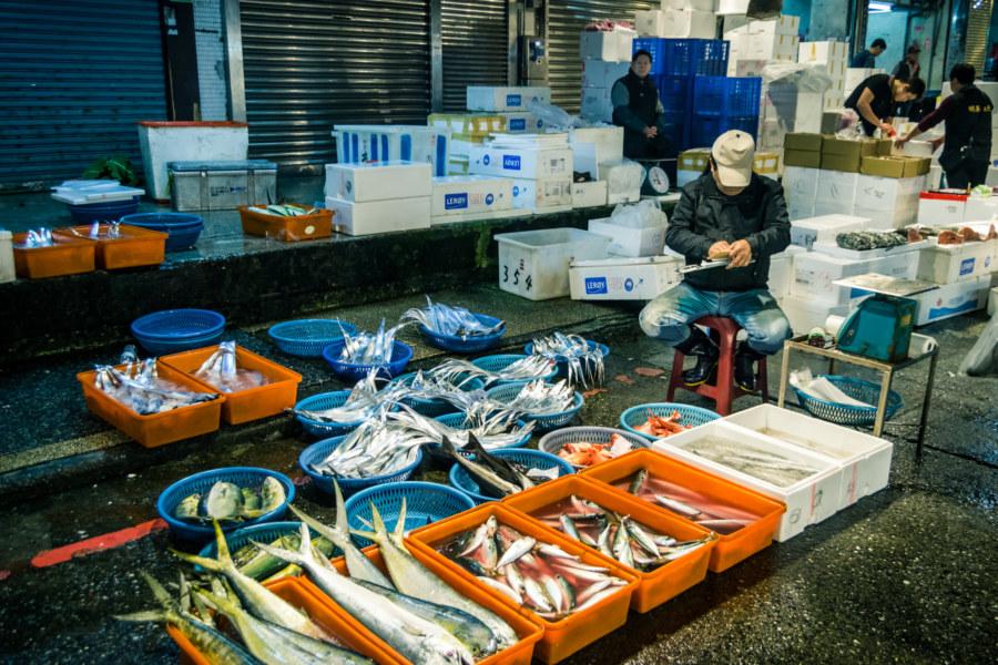 Fresh seafood at Kanziding Fish Market