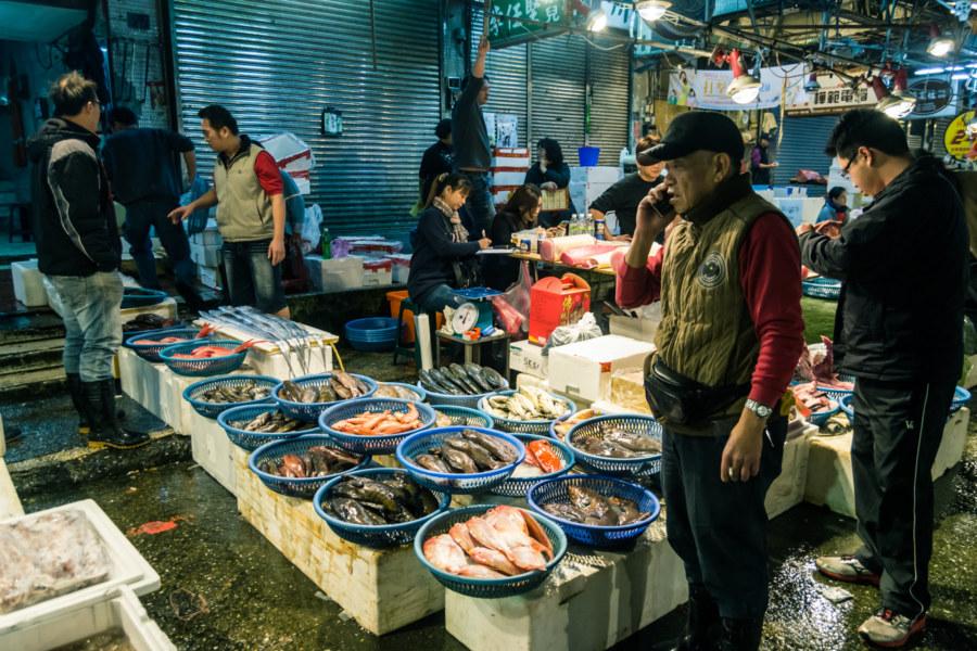Wheeling and dealing at Kanziding Fish Market
