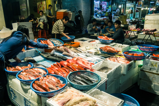 Fresh fish at Kanziding Fish Market