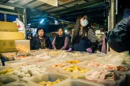 Fish balls and other hot pot goodies at Kanziding Fish Market