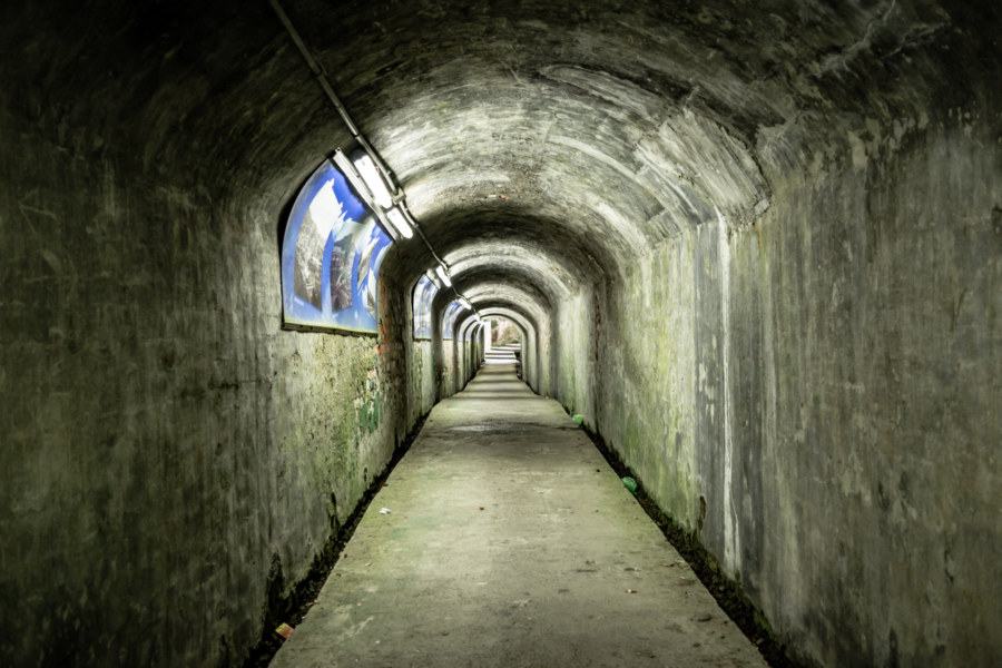 Inside a 100-Year-Old Tunnel in Keelung