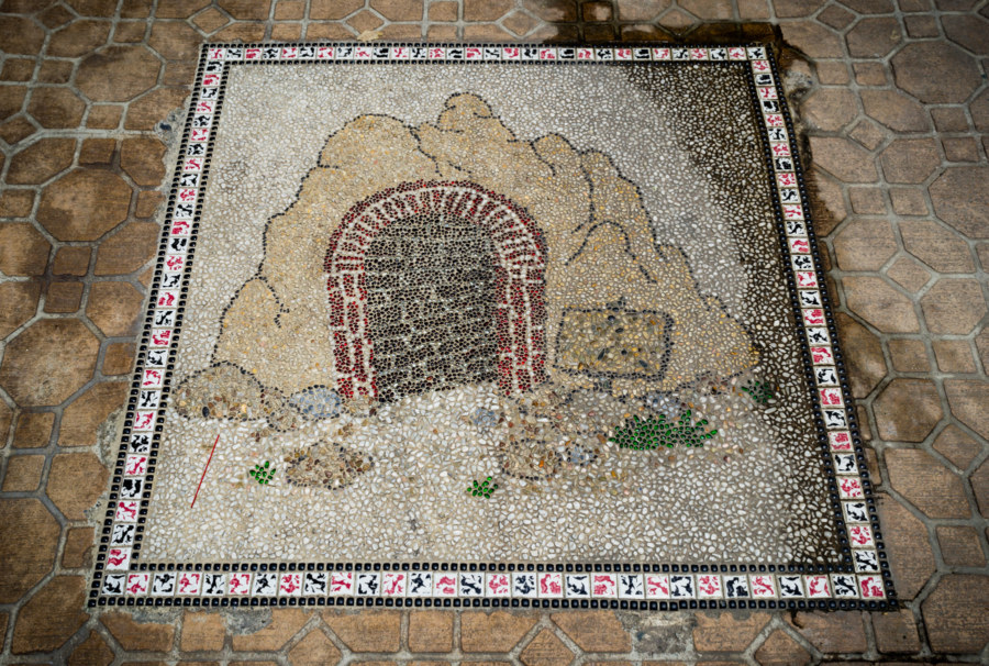 Mosaic Outside an Old Bomb Shelter