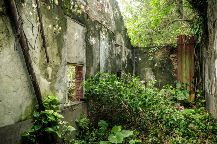 A roofless room at Qingyu Hall