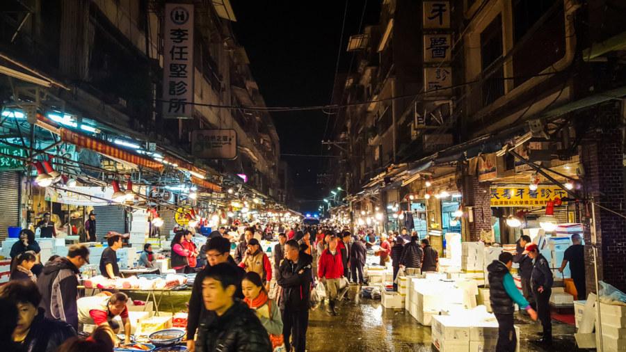 Keelung's Kanziding Fish Market 基隆崁仔頂漁市