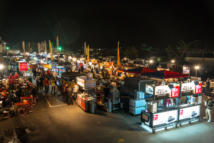 The inner section at Caotun Tourist Night Market