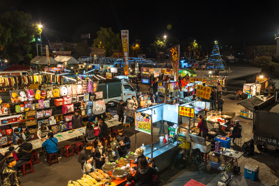 The outer part of Caotun Tourist Night Market