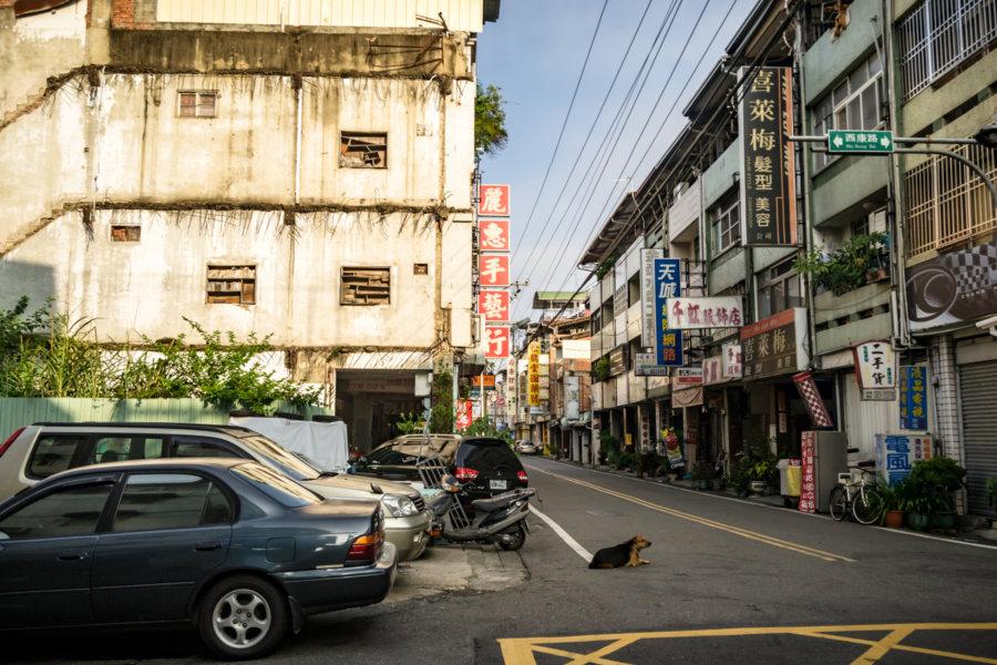 Xikang Road Street Scene in Puli
