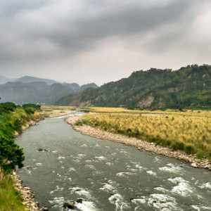 Wu River Flowing Through Rural Nantou County