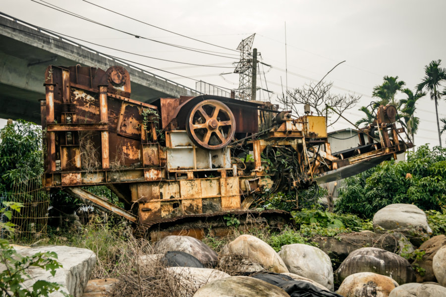 A Rusted Hulk in Rural Nantou County