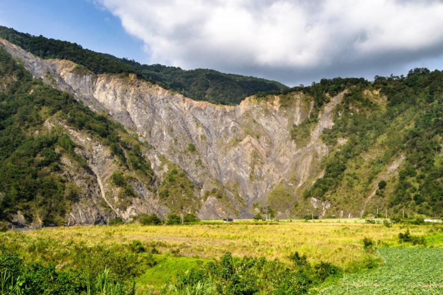 A Massive Landslide Scar on Zhoushui River