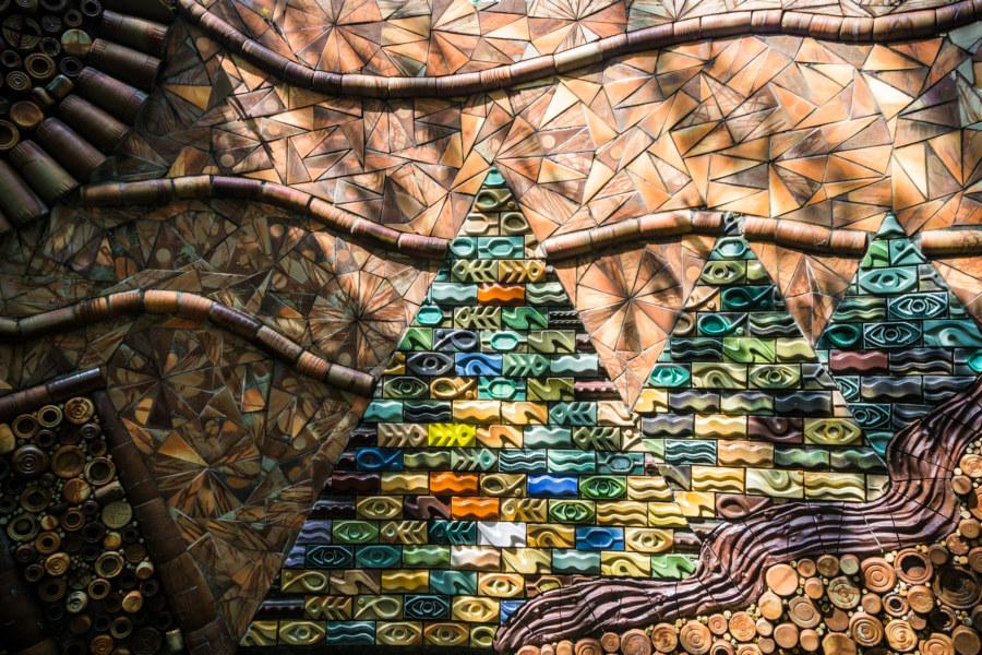 Pottery art outside the Shuili Snake Kiln 水里蛇窯