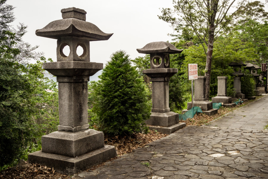 Stone Lanterns at the Former Zhushan Shinto Shrine