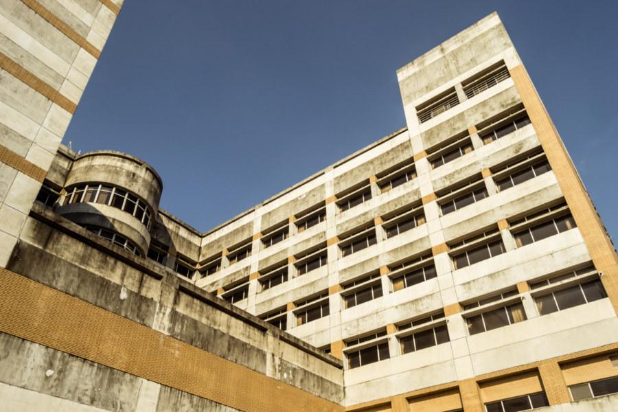The back side of Dashun Hospital 大順醫院