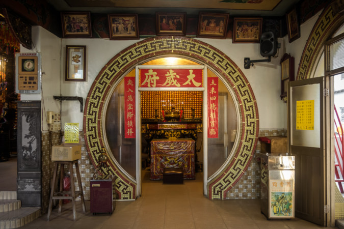 Jupiter shrine in the Mazu Temple in Pingtung City