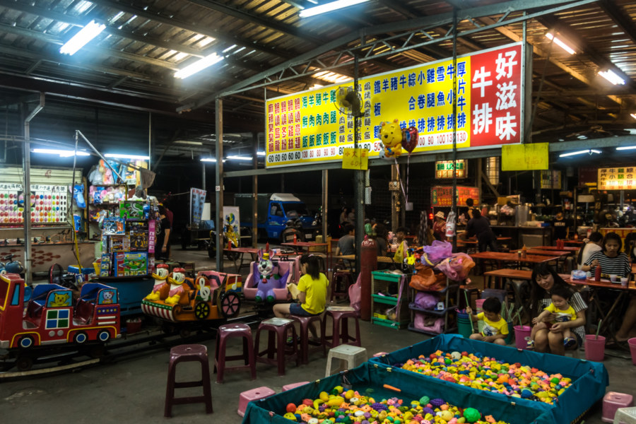 The heart of Ruiguang Night Market, Pingtung City