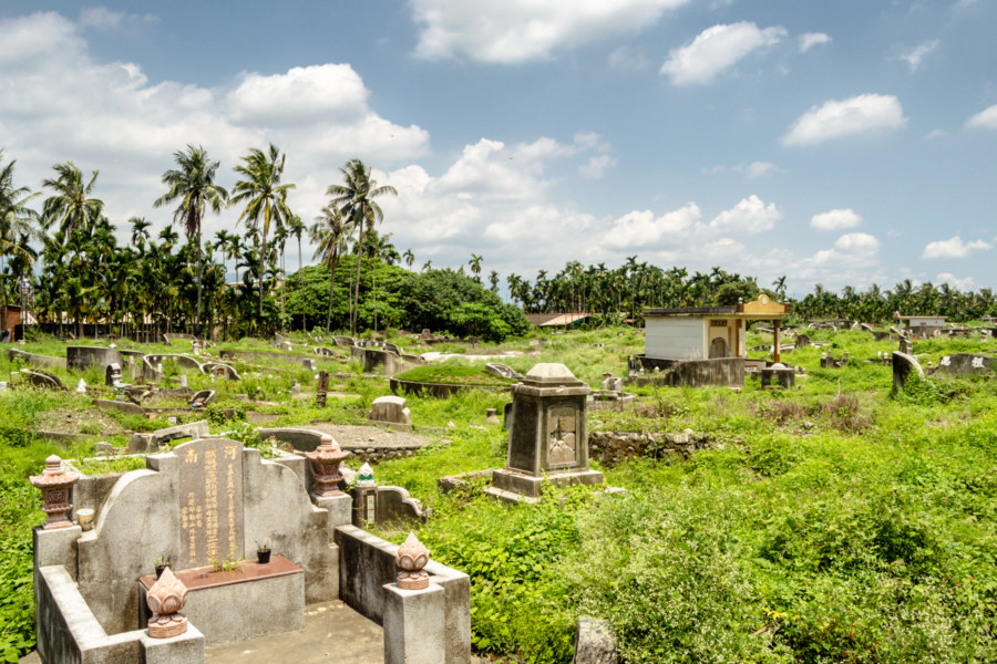 A cemetery on the outskirts of Pingtung City