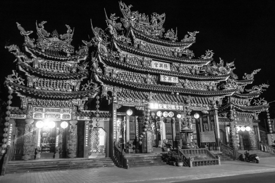 Dexing Temple 德興宮 at the west end of Fangliao