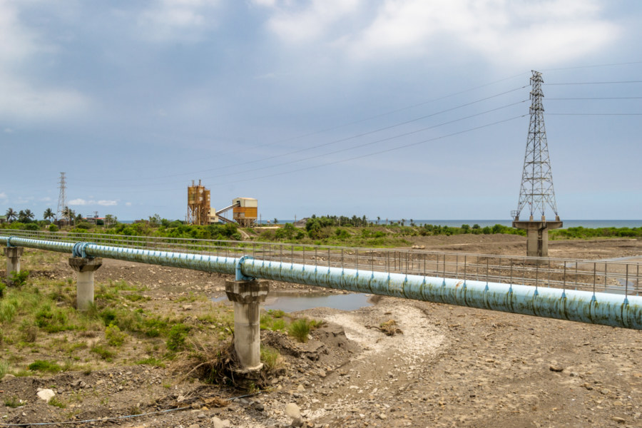 Blue pipe in southern Pingtung