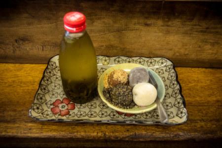 A combo plate at Baiyangdaochai Fried Mochi 白羊道柴燒麻