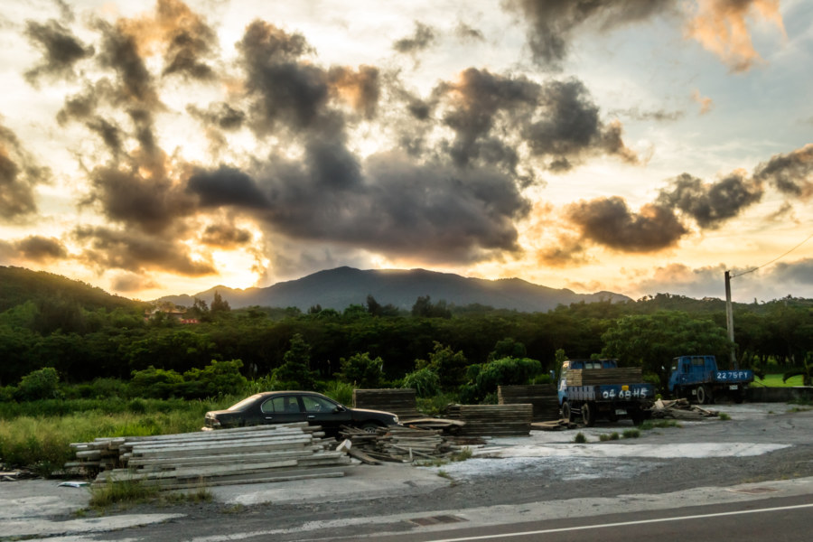 Sundown over the hills of the Hengchun Peninsula
