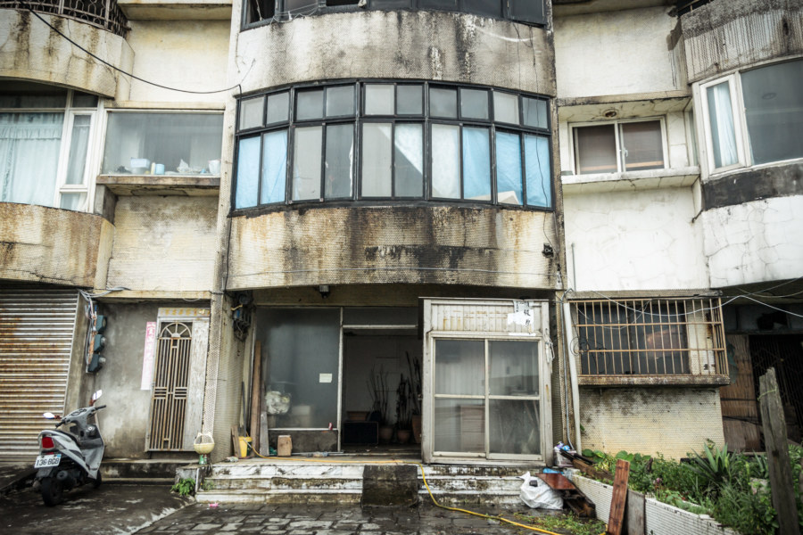 An occupied apartment in the ruins of Harbour City