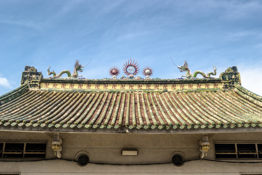Rooftop detail at Jinhua Palace 金華寶殿