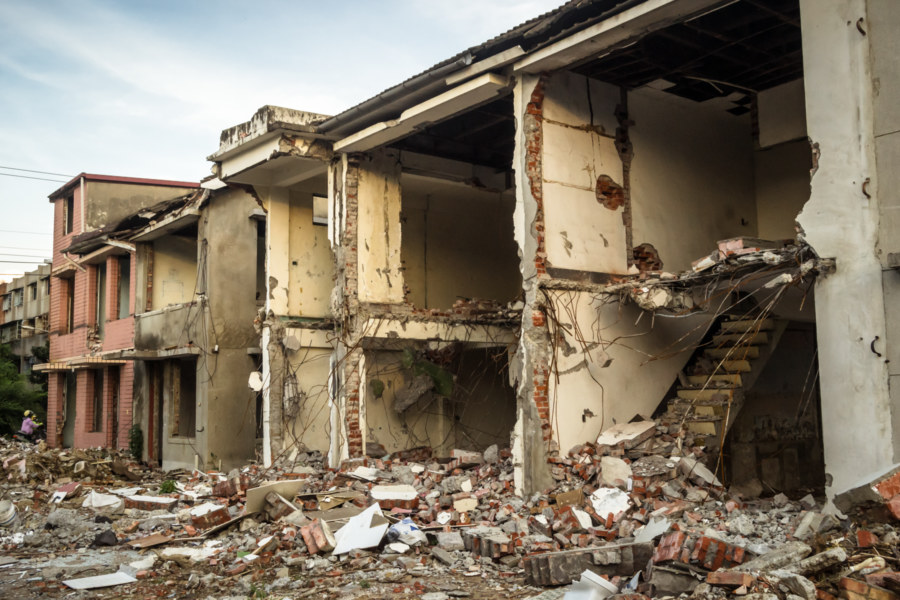 Forcibly abandoned and demolished in Fengshan