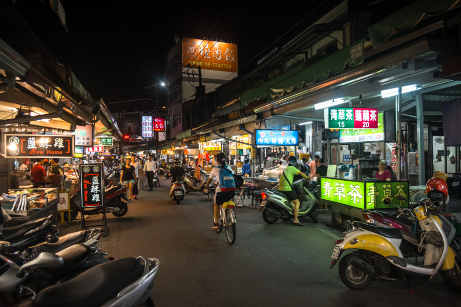 A traditional night market in Pingtung City