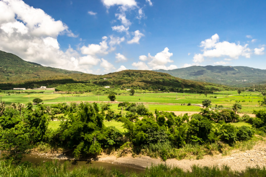 A valley in the mountains of the Hengchun Peninsula