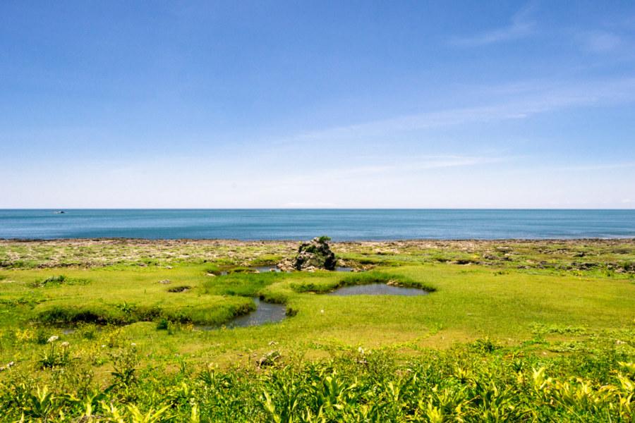 A beautiful blue strip on the horizon