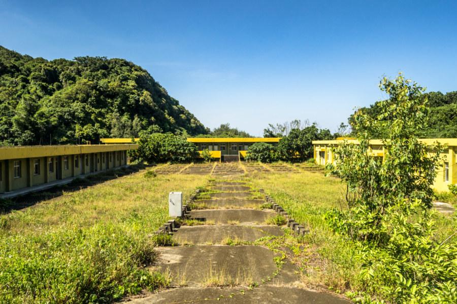 Abandoned military facility next to Jiupeng Base