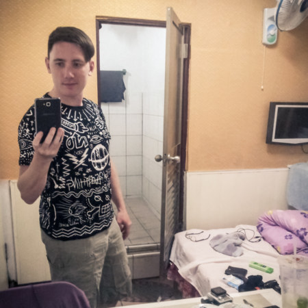In a hotel room in Dawu