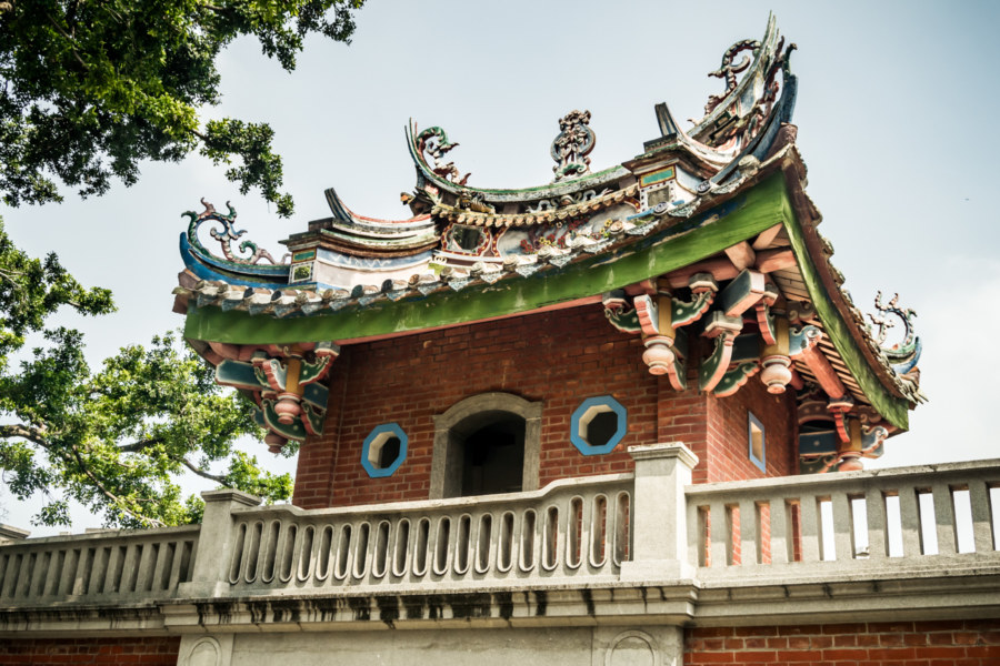 The back side of Jishan Gatehouse 積善樓
