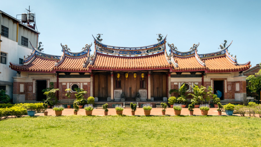 Exterior view of Huangxi Academy 磺溪書院