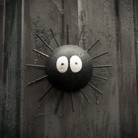 Soot on the wall