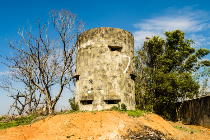 An abandoned fortification on the Dadu Plateau