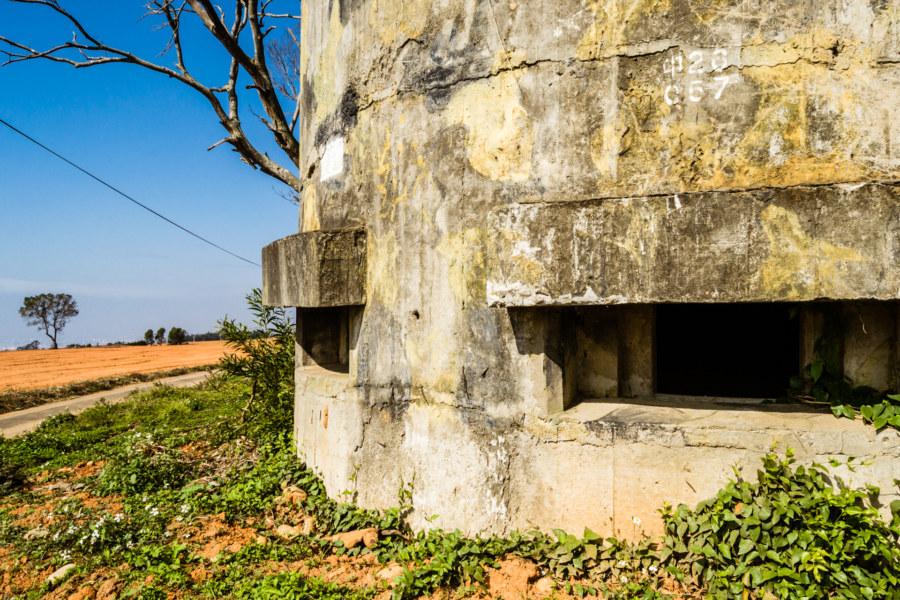 An anti-airborne fort on the Dadu Plateau
