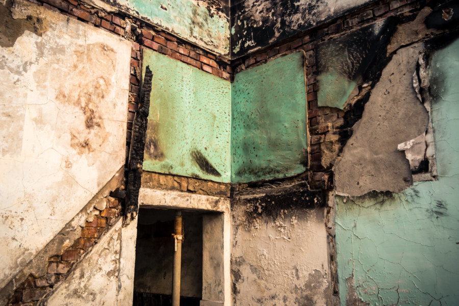 Textures and geometry in the ruins of Taichung