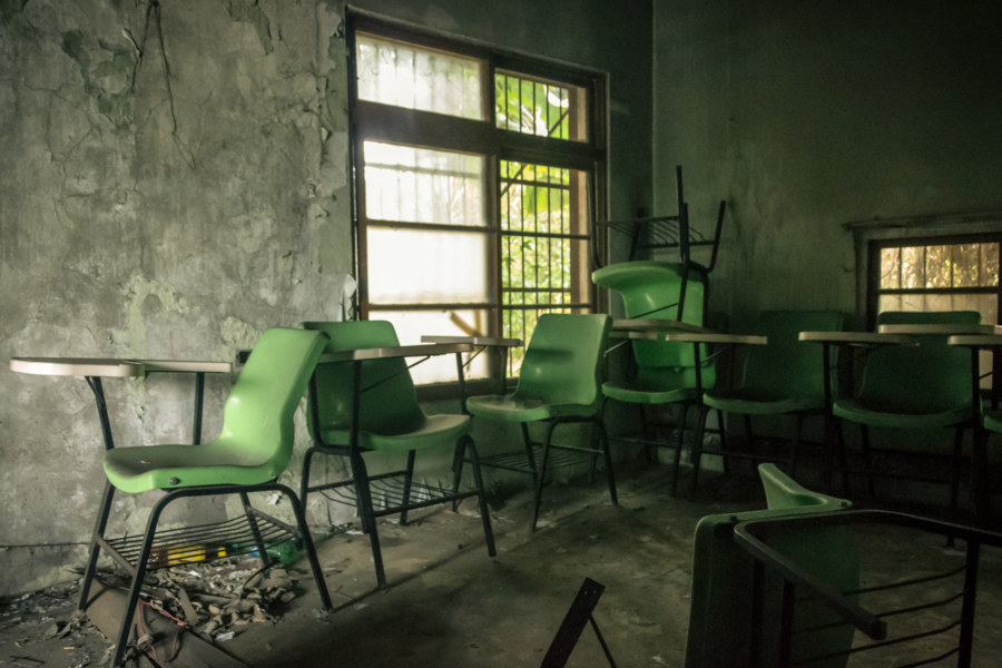 Another room in the abandoned clinic
