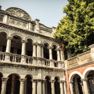 Jukuiju facade, oblique view
