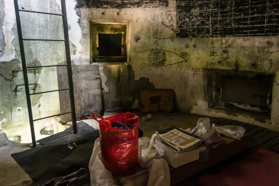 Making a home inside an old gun tower