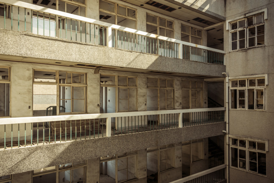 Inside an abandoned hospital in Tainan