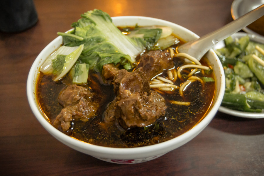 Shockingly good beef noodle soup in Tainan