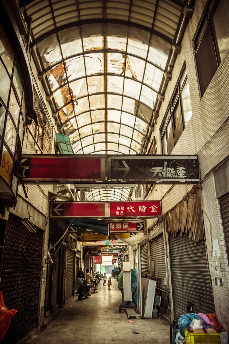 Inside a crusty old mall in Tainan