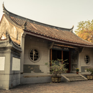 An oblique view of Fahua Temple, Tainan