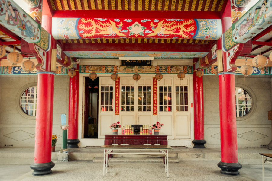 An old school temple complex in Tainan